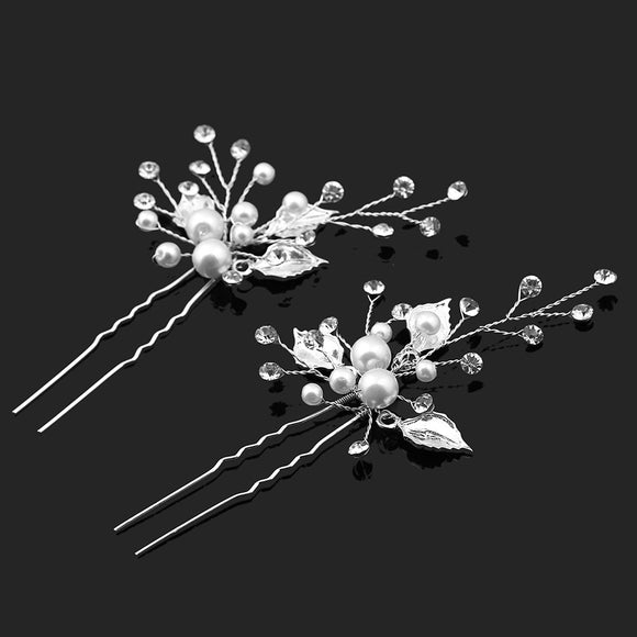 Hairpiece / hairpins / hair clips / wedding pearl