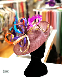 Colourful hat headpiece