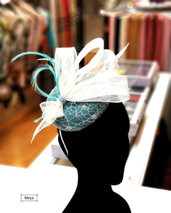 White and green headpiece
