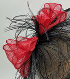 Black and red hat fascinator