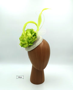 Lime green flower fascinator