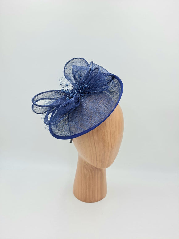Navy blue hat fascinator
