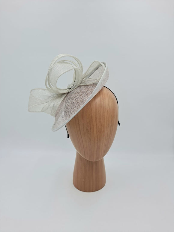 Silver hat with organza bow