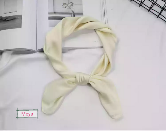 Cream neck tie scarf