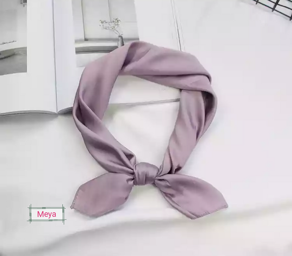 Purple neck tie scarf