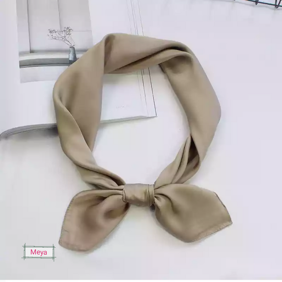 Beige colour neck tie scarf