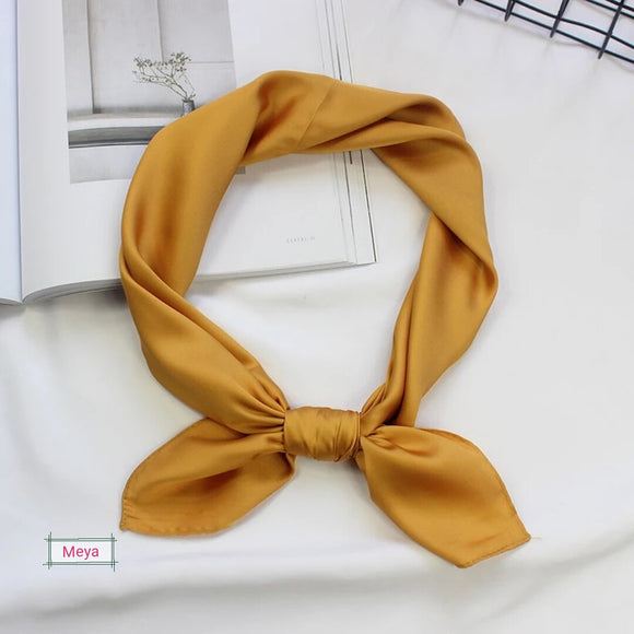Yellow neck tie scarf