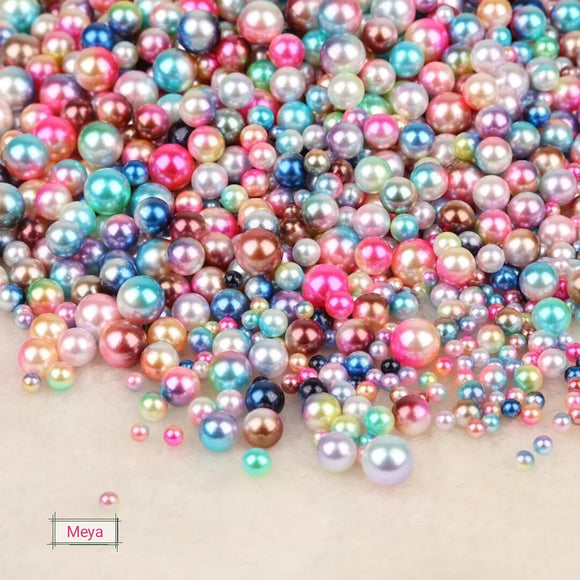 Pack of 100 pcs mix color 5mm Pearl beads  No hole