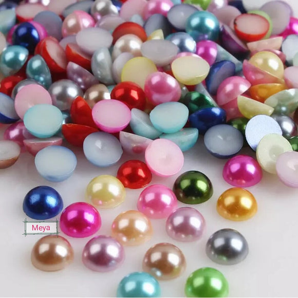 Flatback Pearls - Pack of 150 pcs mix color 7mm