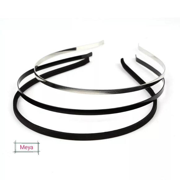 Pack of 10 metal headbands - 5mm