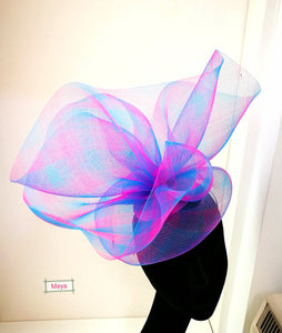 Pink and blue headpiece