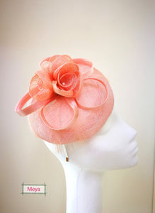 Handmade pink flower fascinator