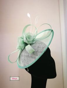 Handmade flower mint colour hat