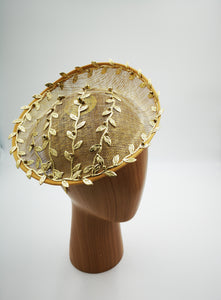 Gold fascinator hat