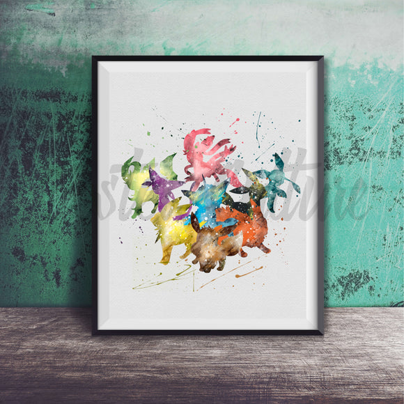 Eevee Evolution Art Print