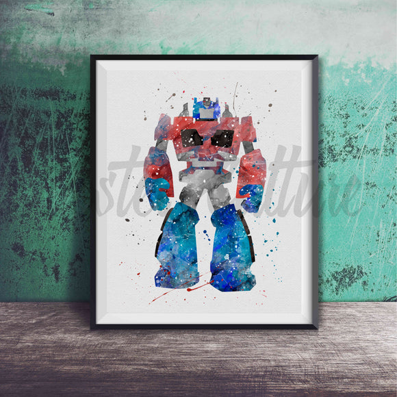 Optimus Prime - Transformer Art Print