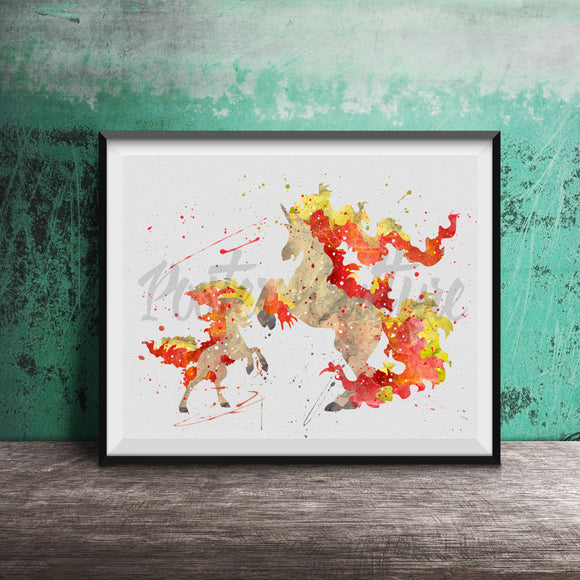 Ponyta Evolution Art Print