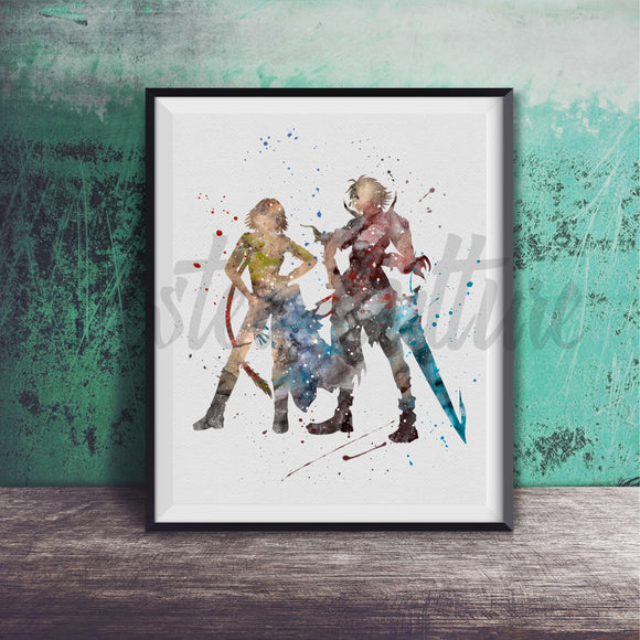 Tidus & Yuna - Final Fantasy X/X-2 Art Print
