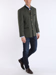 Bavarian jacket from Tyrolean loden in ivy-green