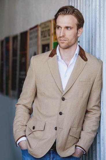 Country-Blazer, Irish linen, Leinen, beige, brown, braun, suede, Wildleder