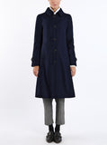 Coat Huberta from Austrian loden in midnight blue