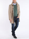 Coat with back crease and back tab from outdoor-cotton in beige
