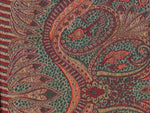 Paisley, scarf, Schal, wool, Wolle, Seide, silk, green, brown, grün, braun, red, rot