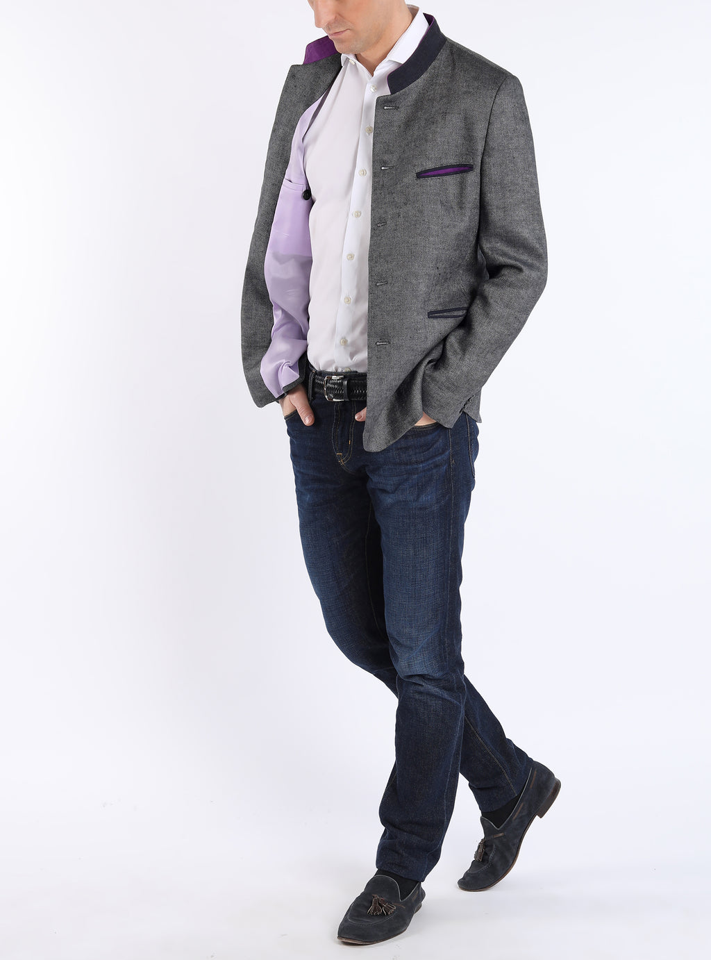 Jacket from Austrian hunting linen in anthracite