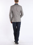 Jacket from Austrian linen in silver