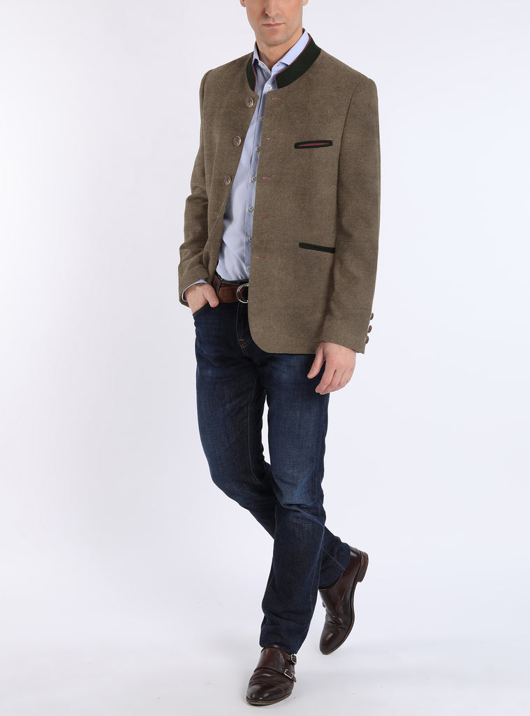 Jacket from Austrian stretch-linen in khaki