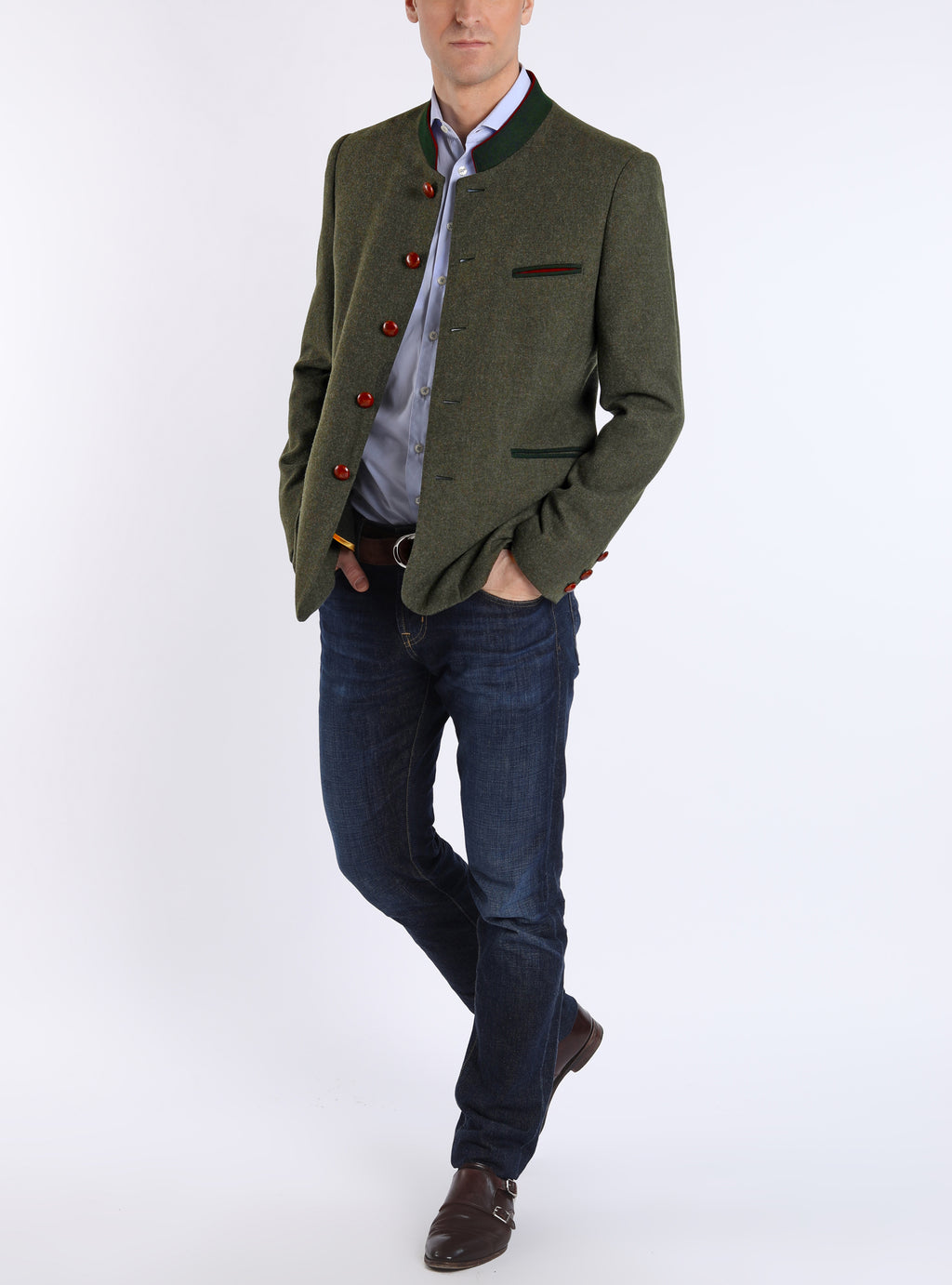 Jacket from Tyrolean loden in sage green