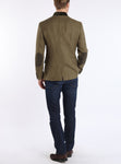 Jacket with patch pockets from Austrian antique-linen in khaki