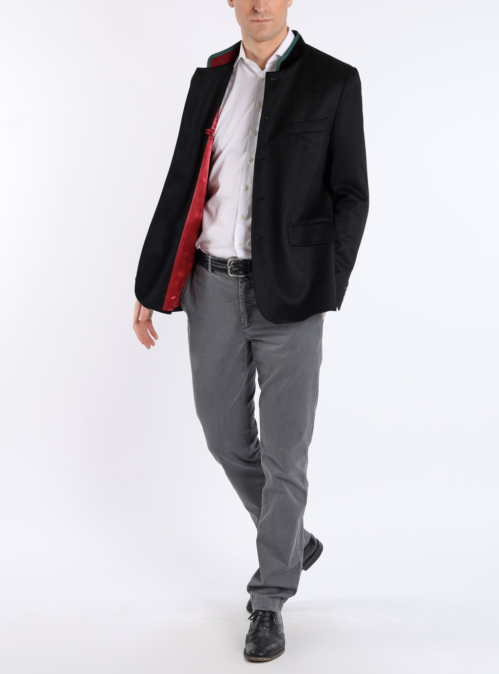 Blazer from pure cashmere in black