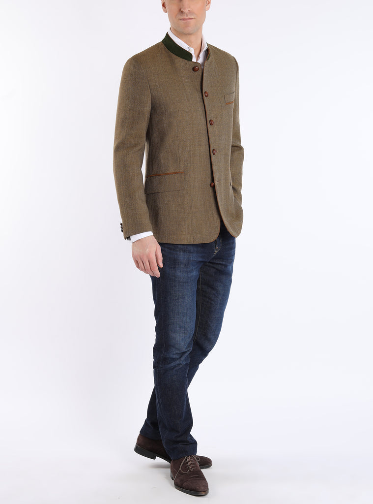 Jacket from Italian coolwool in brass