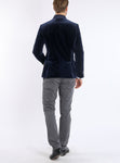 Blazer from Italian cotton-velvet in navy