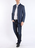 Jacket from Austrian stretch-linen in smoke blue