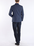Blazer from Austrian stretch-linen in smoke blue