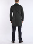 Short coat with from cotton-gabardine in dark green