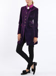 Long-Blazer from Italian cotton-velvet in grape colour