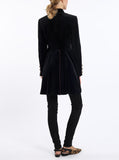 Long-blazer from Italian velvet in black