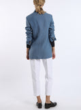 Oversized blazer from ocean blue Irish linen
