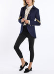 Blazer from Italian cashmere-jersey in navy