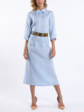 Dress from light-blue linen