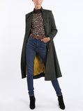 Coat from traditional Austrian loden in dark green