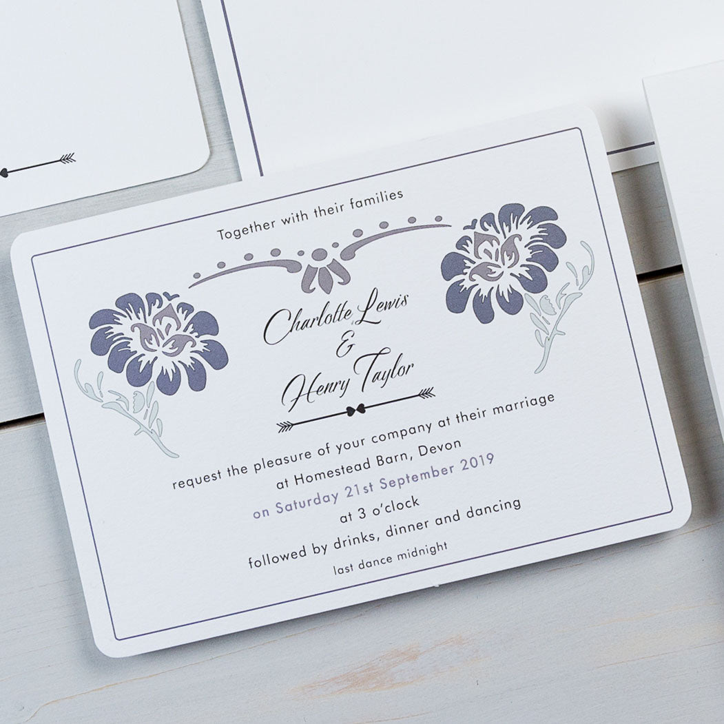 wedding stationery, luxury wedding invitations, floral, formal, PaperLove inc.