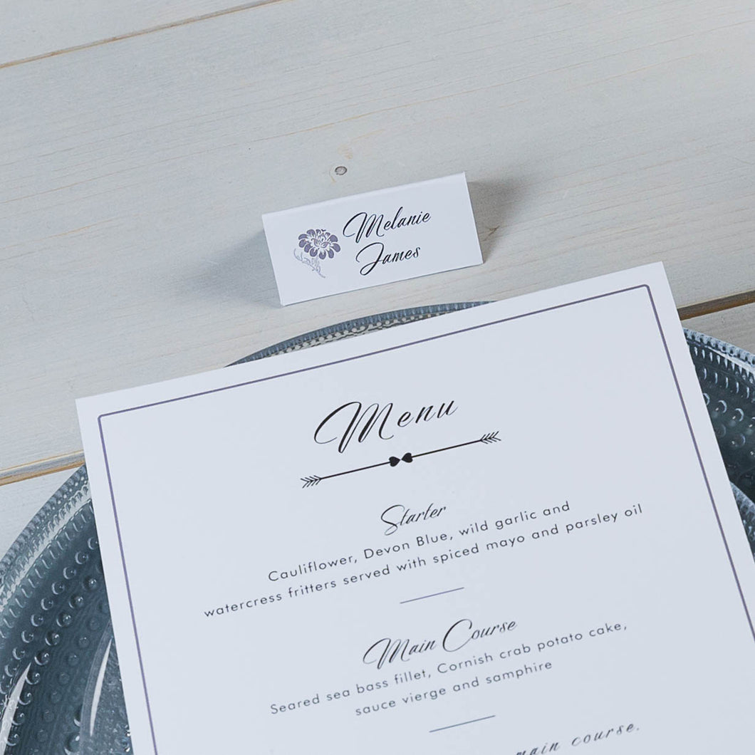 Eternity Folded Place Card