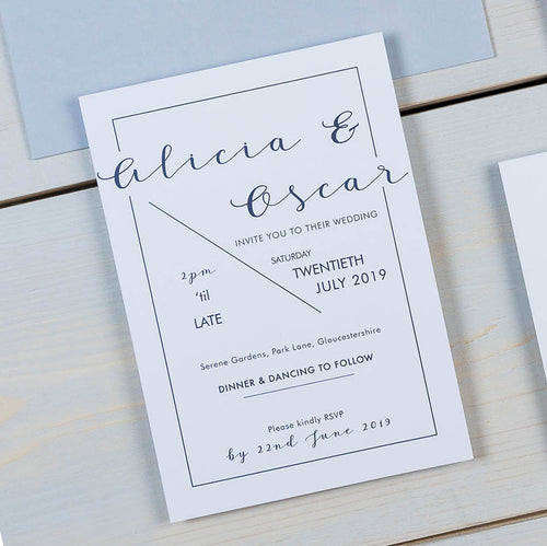 wedding stationery, luxury wedding invitations, modern calligraphy, PaperLove inc.