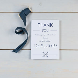 wedding stationery, luxury wedding invitations, thank you card, personalised initials, PaperLove inc.