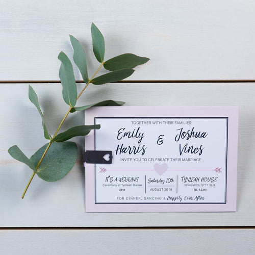 Luxury Wedding Invitations, Wedding Stationery, Cupids Arrow, Woodland, PaperLove inc.