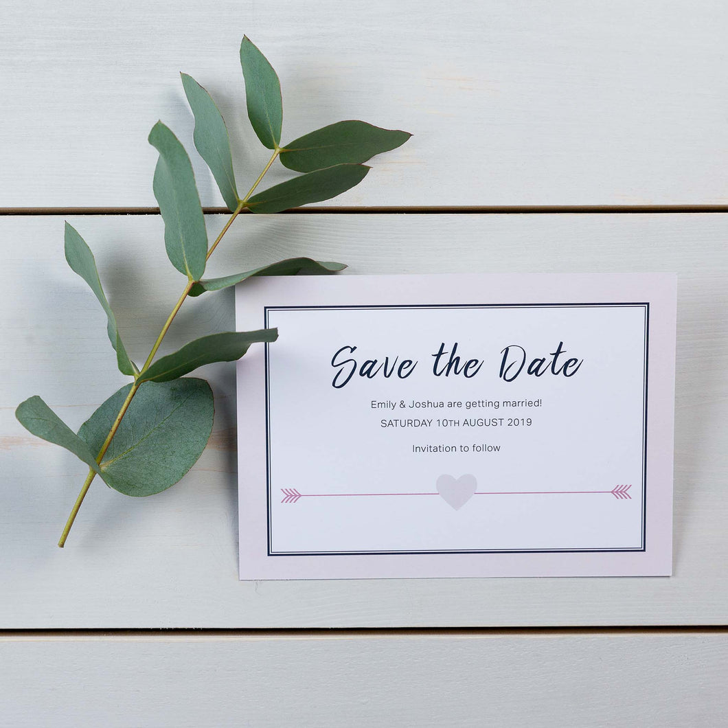 Save The Date, Wedding Stationery, Cupids Arrow, Woodland, PaperLove inc.
